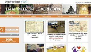 website Erfgoedhuis Weert